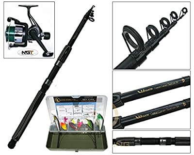 Pike Fishing Spinning Kit 6ft or 8ft Carbon Rod, NGT Reel & Tackle Box Pike Set by Silver Bullet Trading