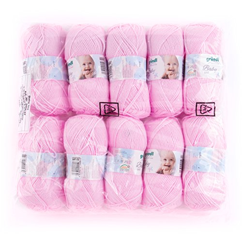 Gründl 3458-07baby uni cotone, 70% poliacrilico, 30% poliammide, rosa, 35x 32x 8cm