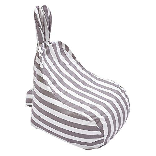 Homyl Süße Hase Sitzsack Bezug Sitzsackhülle Abdeckung Ohne Füllung - Streifen