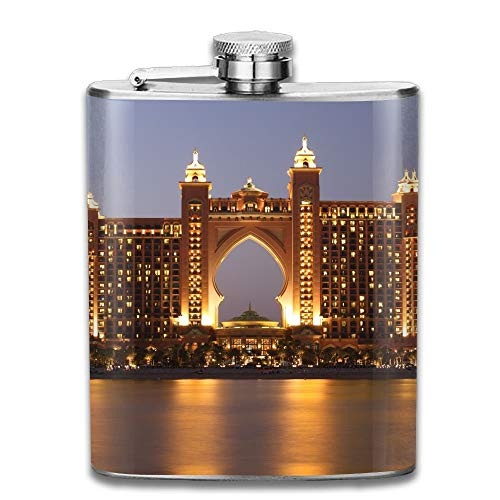 The Palm Atlantis Gifts Top Shelf Flasks Stainless Steel Flask (Bulk Gläser Gravierte)