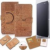 K-S-Trade Schutz Hülle für Alcatel Idol 4S Handyhülle Kork Handy Tasche Korkhülle Schutzhülle Handytasche Wallet Case Walletcase Flip Cover Smartphone