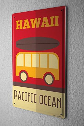 Cartel-Letrero-de-Chapa-Aventurero-Hawaii
