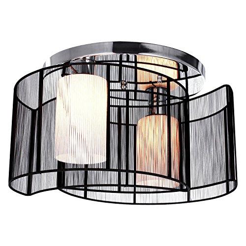 KJLARS Modern Deckenleuchte Deckenlampe schwarz Metall Leuchtmittel Schlafzimmer Wohnzimmer Büro Pendelleuchte