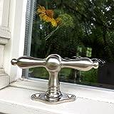 Antikas - Fenstergriff Nickel Fensterbeschläge antik Kreuzgriff Fensterolive Nickel Olive