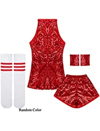 IEFIEL Disfraz de Bailarian para Niña Ropa de Danza Hip Hop Jazz Baile  Callejero Vestido Baile 4286312ffe4