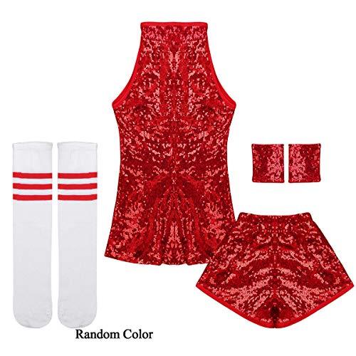 IEFIEL Disfraz de Bailarian para Niña Ropa de Danza Hip Hop Jazz Baile. 59b85b253ea