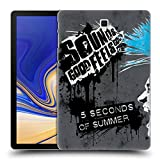 Head Case Designs Offizielle 5 Seconds of Summer Mohawk Blau Punk Ruckseite Hülle für Samsung Galaxy Tab S4 10.5 (2018)