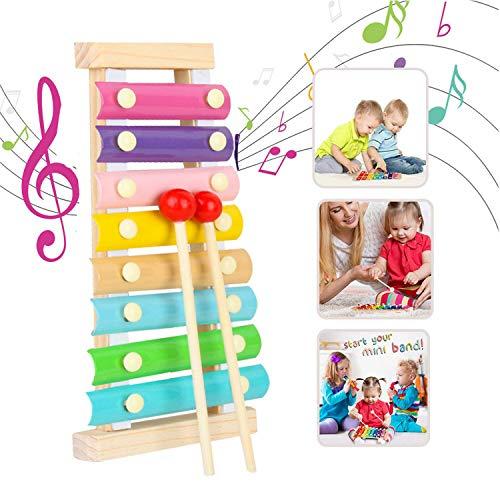 Xilófono Juguetes,Musicales Xilófono de Madera?Instrumento Musical de Percusión Mejor día Cumpleaños Regalo,para Niños de entre 3 y más