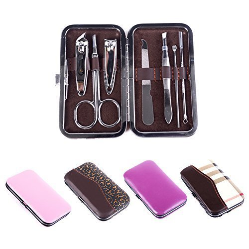Cable World Manicure Pedicure Grooming Traveling and Home Accessories Kit (7 in 1)
