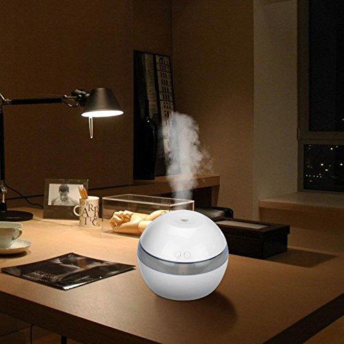Mini Humidificador atomizador Remoto de AromaSpray de Aire Dispensador de Agua Difusor Belleza ultrasónica Humectante Oficina Belleza Humidificar el Dormitoriola Sala de Yoga 300ml (Blanco)