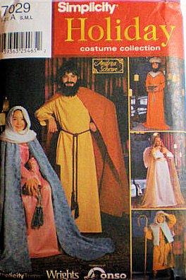 Simplicity 7029ER Urlaub Kinder Kostüm Krippe JOSEPH Mary Engel, Kind Größe S, M, L (4bis 14) ()
