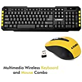 PRODOT TLC-107+145 2.4Ghz Multimedia Wireless Keyboard and Mouse Combo for PC, Laptop, Desktop