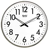 #1: Ajanta Quartz Wall Clock (32 cm x 32 cm x 2 cm, White Dial and Silver Rim)