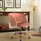 Aingoo en velours ordinateur Bureau Chaise de bureau pivotant Accent Fauteuil de salon pour le salon Rose Rouge