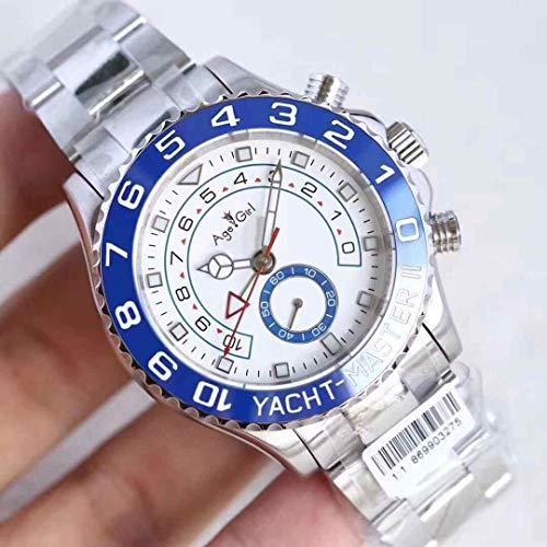 KLMADSB Armbanduhr Herren Uhren Luxusmarke New Men Automatic Mechanische Uhren GMT Luminous Ceramic Blau Silber Grau Lünette Saphir Rose Gold Weiß Uhr Silber Blau