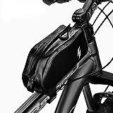 SAHOO Sacoches de Cadre de Vélo Sacoche à Vélo Tube Support Téléphone Cadre 100% Imperméable 420D Le Nylon pour VTT avec Le Logo réfléchissant