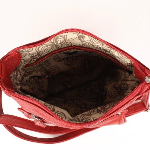 Jennifer Jones, Borsa a spalla donna Rosso (rosso)