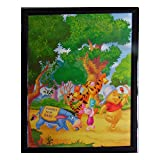 Tableau Winnie l'Ourson, Porcinet, Tigrou et bourriquet 20 x 25 cm Disney cadre hundred