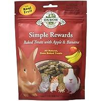 OXBOW Animal Health Simple Reward Apple Banana Oven Baked Fiber Rich Treats 2z