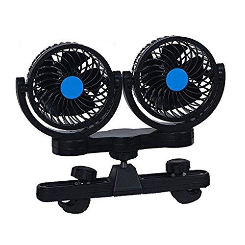 Byjia Elektrische Auto Fan Für Rücksitz Passagier Luftkühlung Fan Kopfstütze 360   Grad Drehbar Für Sedan SUV RV Boot,Blue,12V - Portable-rv-generator