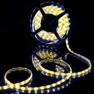 (PMS) Weiß 5M 300 LED 3528 SMD Wasserdicht Strip streifen leiste mit 12V Netzteil Trafo Kostenlose Lieferung