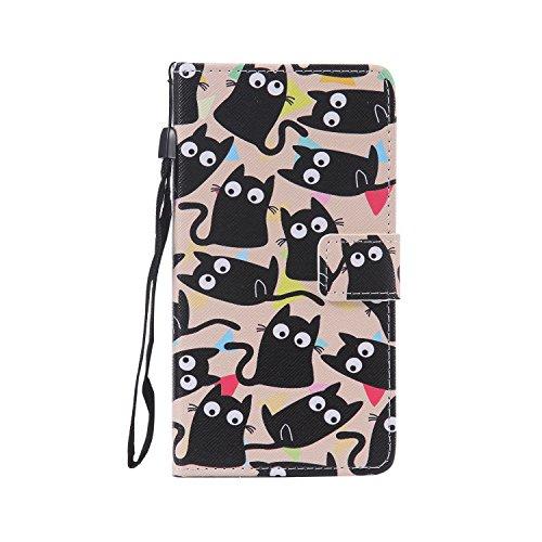 Kitty Mode-taschen (Janeqi LG G4 Stylus H635/LG G Stylo LS770 Hülle - Flip Handyhülle,Mode lackiert Ledertasche Schutzhülle Case Cover für LG G4 Stylus H635/LG G Stylo LS770 [CHPT3/Kitty])