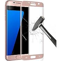 Samsung Galaxy S7 Edge Pellicola Protettiva, Yica 3D Full Coverage Galaxy S7 Edge HD della Pellicola della Protezione dello Schermo della Radura Protecter 9H Vetro Temperato Curvo di Vetro Nero per Samsung Galaxy S7 Bordo(Oro
