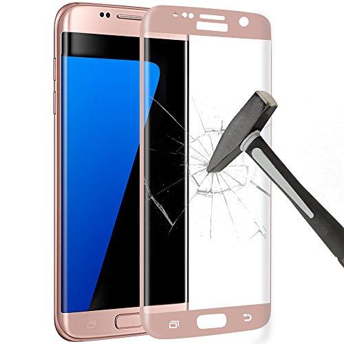 Samsung Galaxy S7 Edge Pellicola Protettiva, Yica 3D Full Coverage Galaxy S7 Edge HD della Pellicola della Protezione dello Schermo della Radura Protecter 9H Vetro Temperato Curvo di Vetro Nero per Samsung Galaxy S7 Bordo(Oro Rosa)