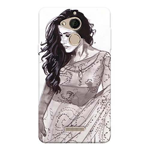 Kajol in saree sketch design Coolpad note 5 all side printed hard...