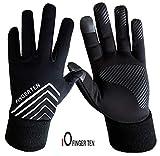 Running Gloves for Men Ladies Touchscreen Fleece Liner, 3M Design...