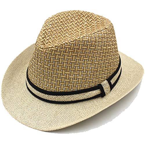 BAIJJ Hut FashionCap tal Hut für Männer mittleren und höheren Alters, Freizeit im Freien, Schattierung, atmungsaktiv, Jazzhut Sommer, Cooler Hut