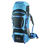 Mountaintop 60+10 Litri/70L+10/75L Zaino Trekking Impermeabile Escursionismo montagna campeggio alpinismo viaggio 78 x36 x23CM/85 X35 X30CM