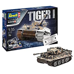 Revell 05790 - 75th Anniversary Tiger 1 Tank Model Gift Set Including Paints, Glue and Paintbrush, 1:35 Scale