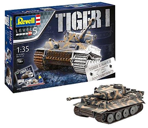 Revell- I Maqueta Set de Regalo 75 años Tiger Tanque, Kit Modello, Escala 1:35 (5790)...