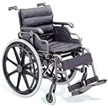 Silla de ruedas plegable Deluxe de aluminio