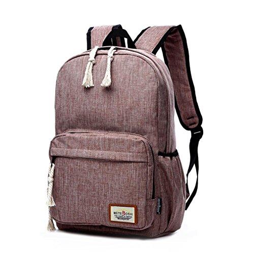 F@Männer und Frauen große Leinwand Reisetasche im Freien, Art und Weise Schulterbeutel, Laptoprucksack Student Khaki