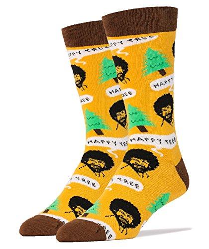 oooh-yeah-bob-ross-happy-tree-mens-crew-socks