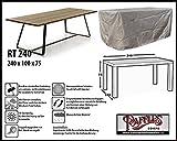 Raffles Covers RT240 Schutzhülle für rechteckige Gartentisch 240 x 100 cm Schutzhülle für rechteckigen Gartentisch, Abdeckhaube für Gartentisch, Gartenmöbel Abdeckung