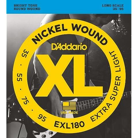 D'Addario EXL180 Set Corde Basso EXL