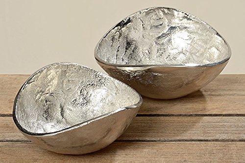 1 x Deko Schale Lil Aluminium silber Ø 15 cm, Tischdeko, Küche, Aufbewahrung