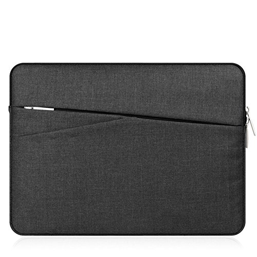 "KimTime 11.6 inch Laptop Sleeve Case Bag Protective Bag for MacBook Air/MacBook Pro/Surface Laptop/Book Protective Carrying Bag Case Cover for 11""-11.6"" Lenovo Dell HP ASUS Chromebook Notebook,Black"