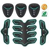 ANLAN Elettrostimolatore per Addominali, Elettrostimolatore Muscolare Professionale, ABS Stimulator, Addome/Braccio/Gambe/Waist/Glutei Massaggi-Attrezzi, Batteria installabile (Uomo/Donna)