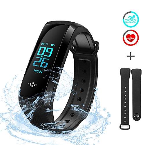 EZfull Fitness Armbanduhr Tracker USB Laden Schrittzähler Armband Wasserdicht Smart Bracelet Uhren Stoppuhr 8-11 Tage Standby