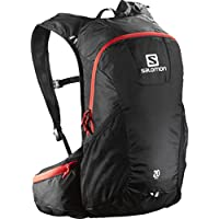 Salomon Trail 20 Mochila, Unisex, Negro (Black/Bright Red), Talla Única