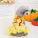 T.boys Hund Kleid BlumeTutu Kleid Rock Welpen Katze Prinzessin Kleidung Bekleidung Bubble Rock Spitzenkleid Hund Kleid Sequins Ballet Dance Kleider für Hund