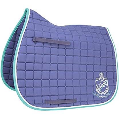 HySPEED Hy Saddle Cloth - Navy/Teal - Pony - Horse Saddlecloths & Numnahs 5