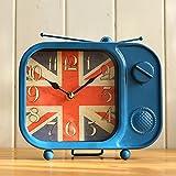 retro Creativa forja reloj pantalla decoración-A