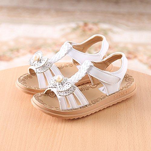 Scothen Sandales filles,sandales renversent doux pantoufles plat Bohême tongs enfants sandales chaussures pour enfants d'été des enfants de plage Pricness chaussures marche plein baskets Ballerina white