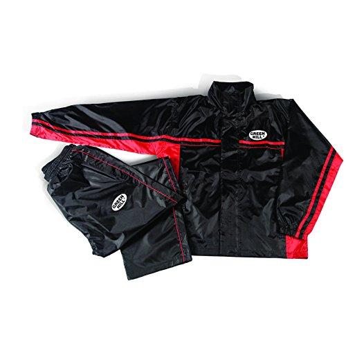 Green Hill Erwachsene Sauna-Anzug, Rot/Schwarz, XL (Erwachsene Sauna Anzug)