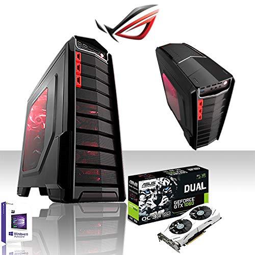GAMMA SSD PC DESKTOP GAMING INTEL i7 7700 4.2GHZ/ASUS GTX 1060ti 3GB GDDR5 4K/RAM DDR4 16GB 2400MHZ/SSD 240GB/HD 1TB/WIFI 300/VS550 CORSAIR/LED